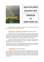 Bulletin informations Septembre 2014